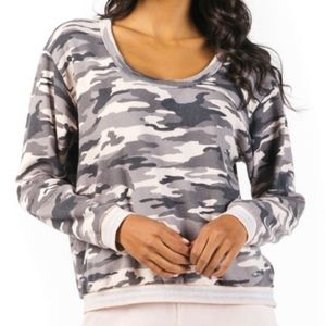 HARD TAIL EASY SPARKLE PULLOVER CAMR09 CONCRETE